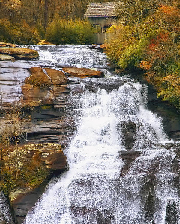 Water Poster featuring the photograph High Falls by Scott Norris