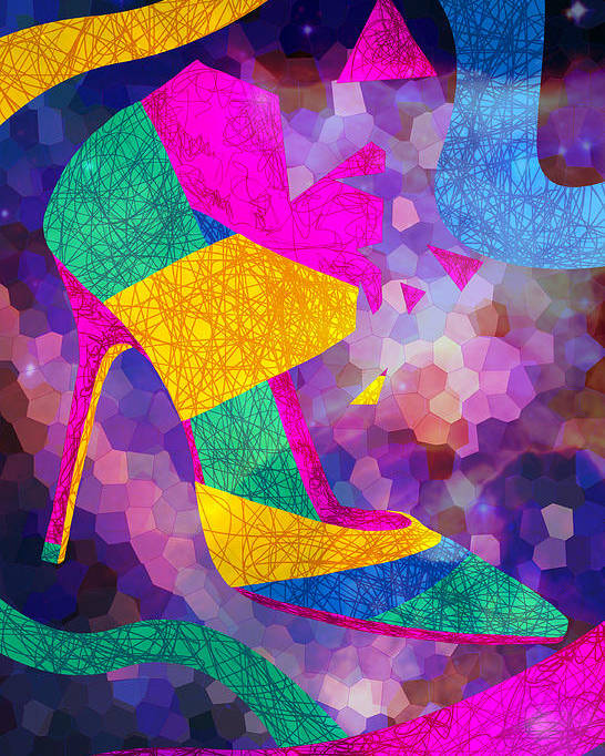 High Heels Poster featuring the drawing High Heels On Ropes by Kenal Louis