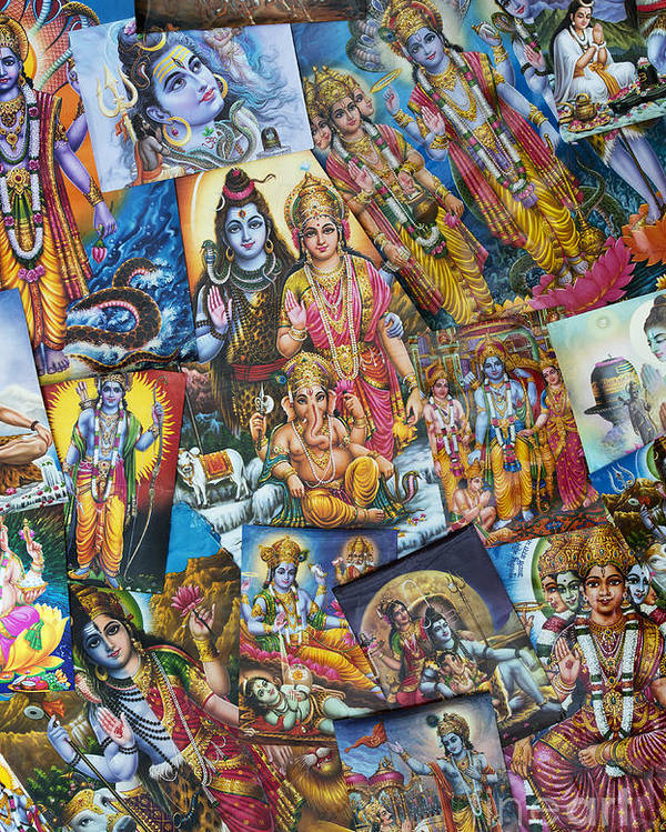 Hindu Poster Poster featuring the photograph Hindu Deity Posters by Tim Gainey