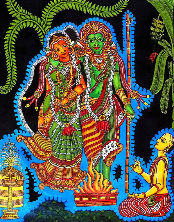 Hindu God Tirupati Balaji Wedding Poster By Asp Arts