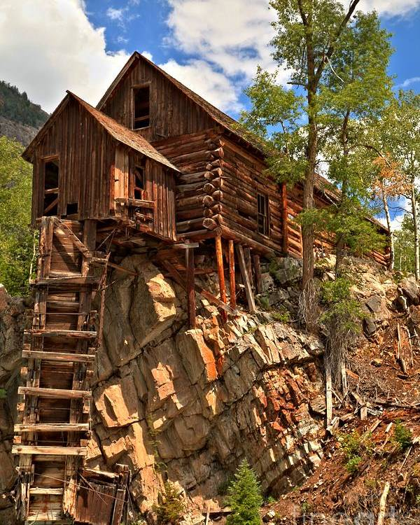 Crystal Colorado Poster featuring the photograph Historic Crystal Mill by Adam Jewell