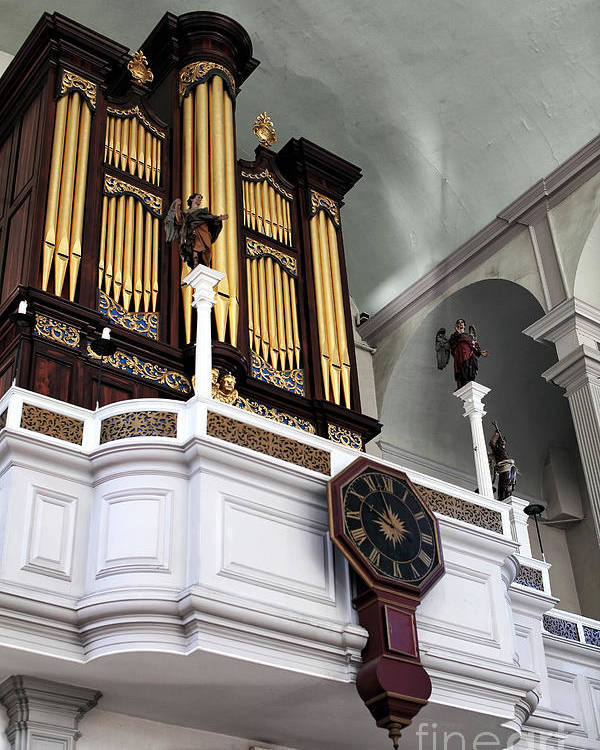 Historic Organ Poster featuring the photograph Historic Organ by John Rizzuto