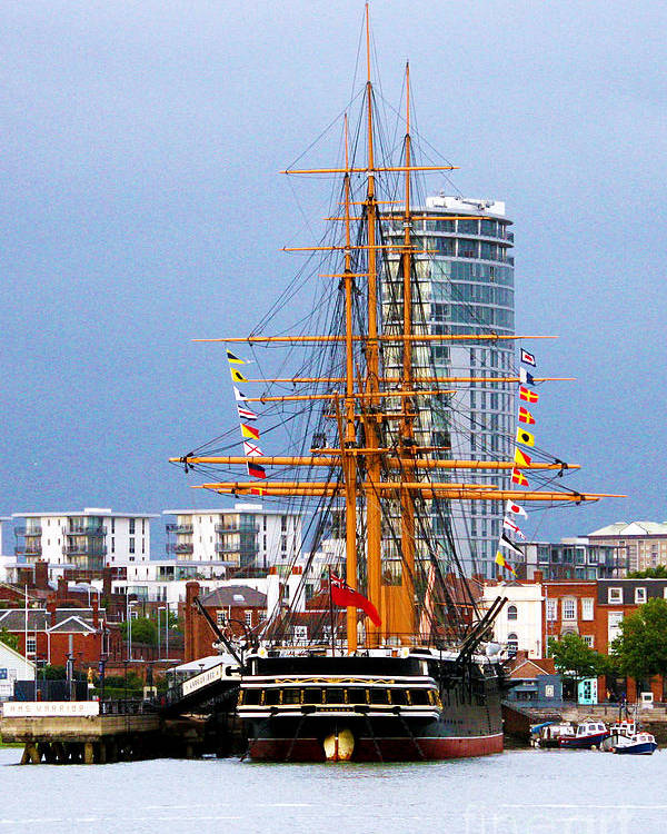 Hms Warrior Poster featuring the photograph Hms Warrior Portsmouth by Terri Waters