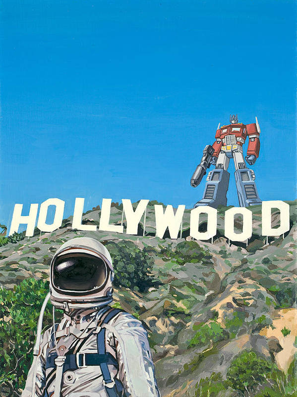 Astronaut Poster featuring the painting Hollywood Prime by Scott Listfield