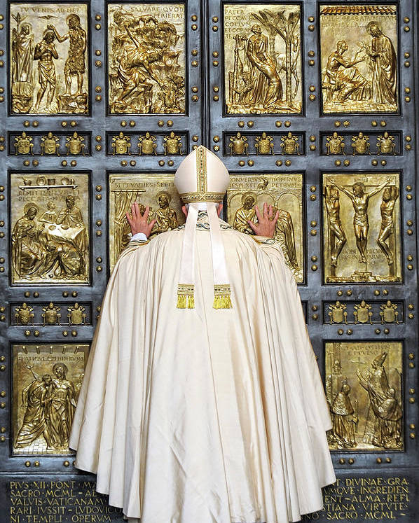 Pope Francis Poster featuring the photograph Holy Mass And Opening Of The Holy Door by Vatican Pool