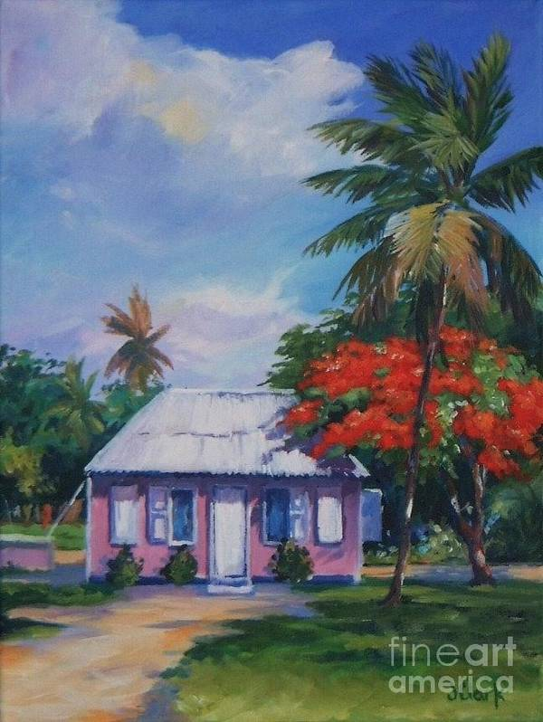 Tall Tree Poster featuring the painting Home At Tall Tree  Savannah by John Clark