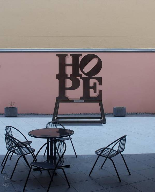 Hope Poster featuring the photograph Hope And Chairs by Rob Hans