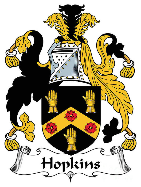 Hopkins Poster featuring the digital art Hopkins Coat Of Arms Irish by Heraldry