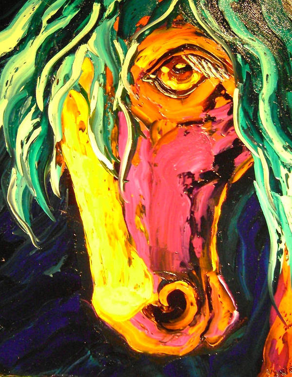 Isabelle Poster featuring the painting Horse by Isabelle Gervais