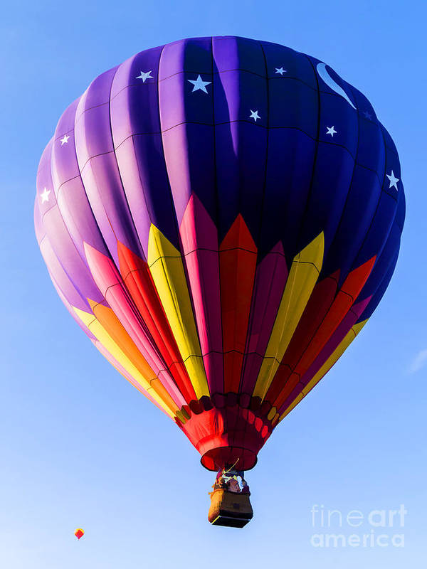Hot Poster featuring the photograph Hot Air Ballooning In Vermont by Edward Fielding