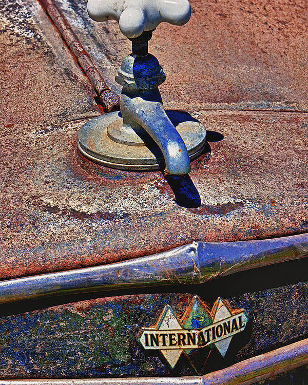 Hot Faucet Poster featuring the photograph Hot Faucet Hood Ornament by Garry Gay