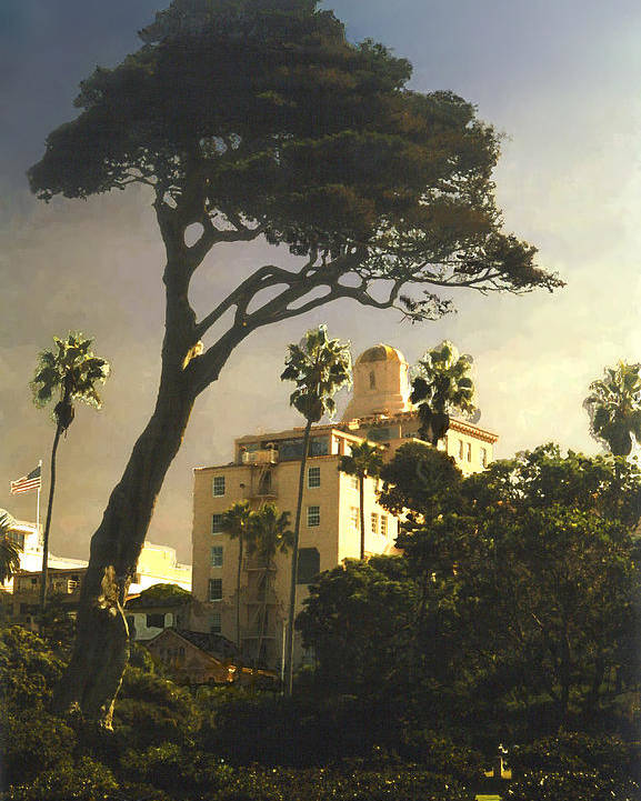 Landscape Poster featuring the photograph Hotel California- La Jolla by Steve Karol