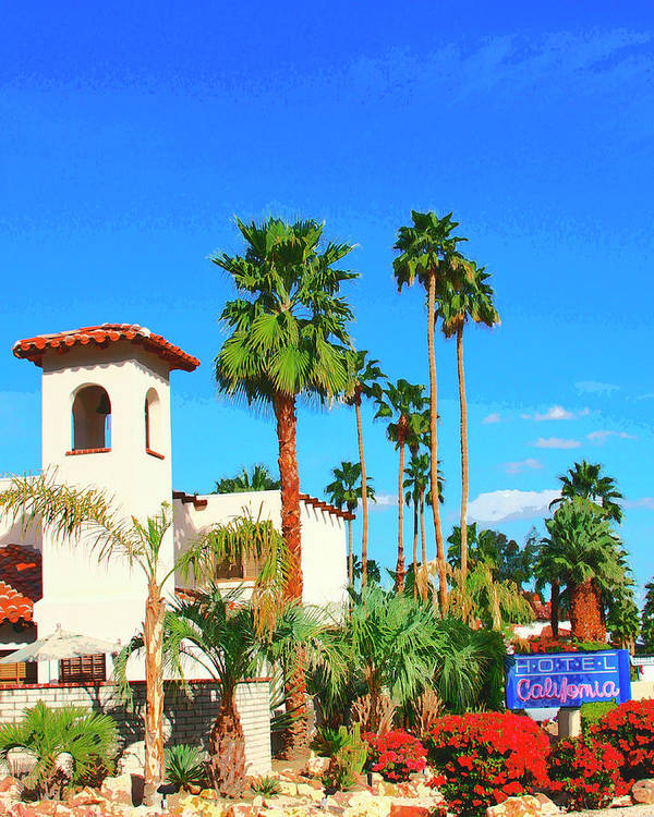 Hotel California Poster featuring the photograph Hotel California Palm Springs by William Dey