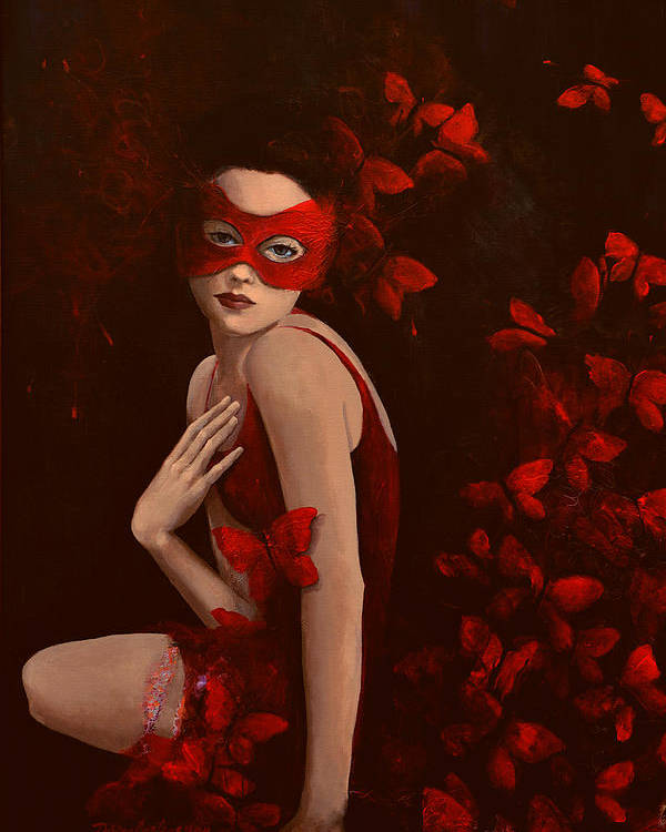 Fantasy Poster featuring the painting How Long Do Butterflies Live by Dorina Costras
