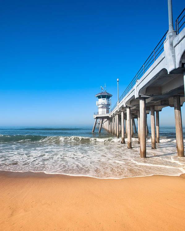 Pier Poster featuring the photograph Huntington Beach Pier by Joe Belanger