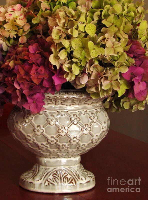 Hydrangea Poster featuring the photograph Hydrangea Bouquet  by Deborah Johnson