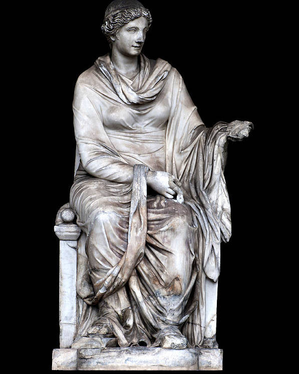 Black Background Poster featuring the photograph Hygieia by Fabrizio Troiani
