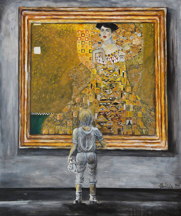 Painting Of Klimt Poster featuring the painting I Dream Of Klimt by Nik Helbig