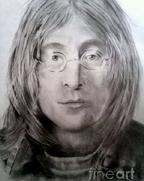 Portrait Poster featuring the drawing Imagine by Brian Horsley