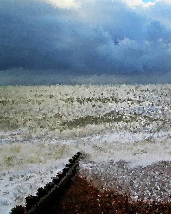 Seascape Prints Poster featuring the photograph Impressionistic Ocean by Sharon Lisa Clarke