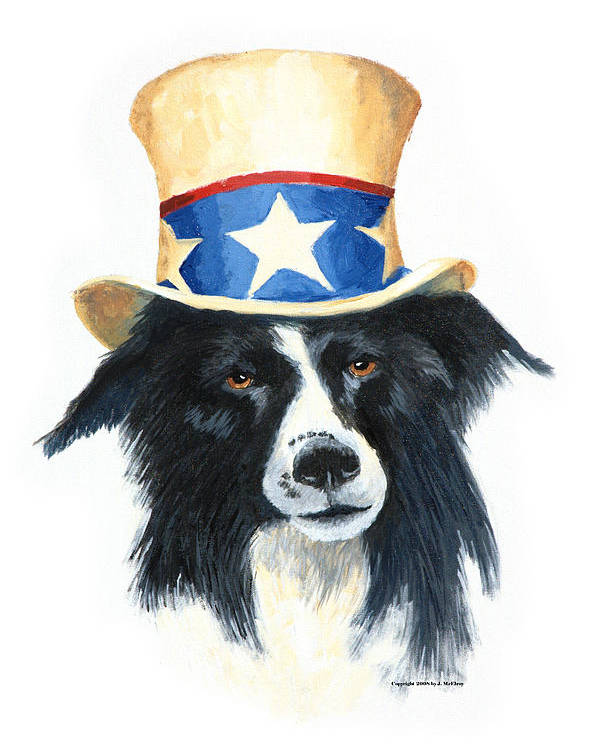 Dog Poster featuring the painting In Dog We Trust by Jerry McElroy