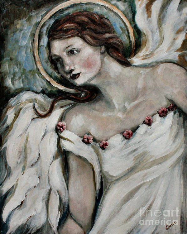 Angel Poster featuring the painting In Love by Carrie Joy Byrnes