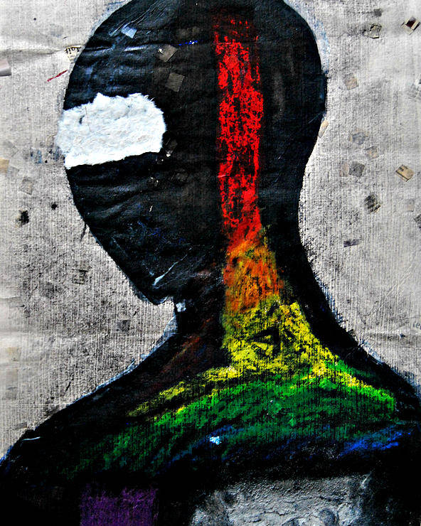 Rainbow Poster featuring the mixed media In My Eyes by Justin Lehman