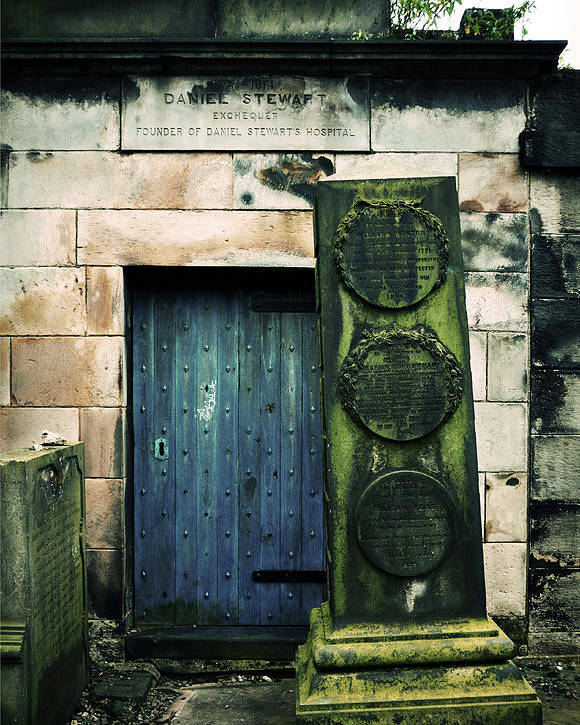 Headstone Poster featuring the photograph In Old Calton Cemetery by RicardMN Photography