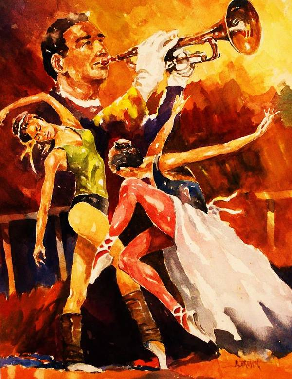 Dancers Poster featuring the painting In Rehearsal by Al Brown