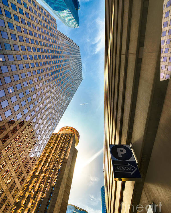 Architecture Poster featuring the photograph In The Shadow Of The Skyline District by Dee Zunker