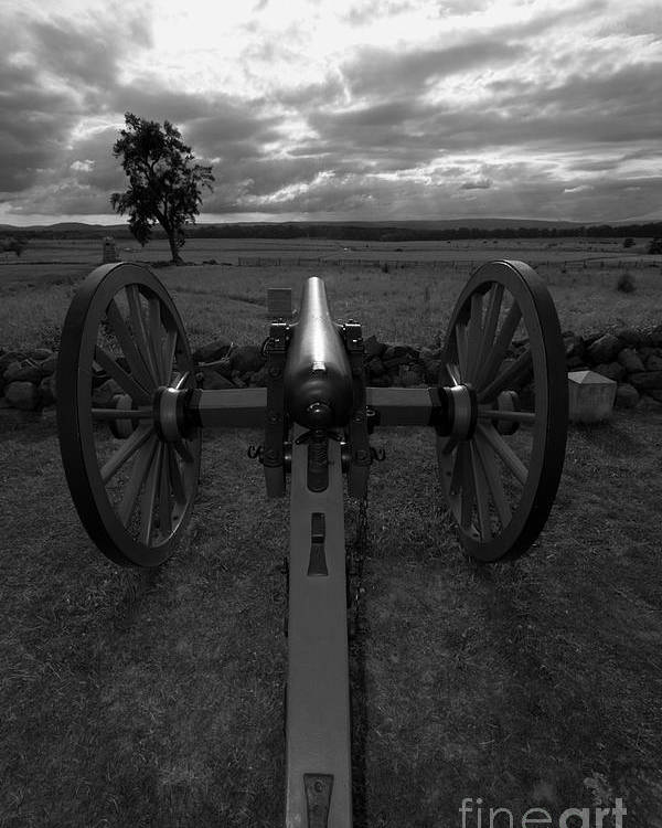 Gettysburg Poster featuring the photograph In The Sights At Gettysburg by James Brunker