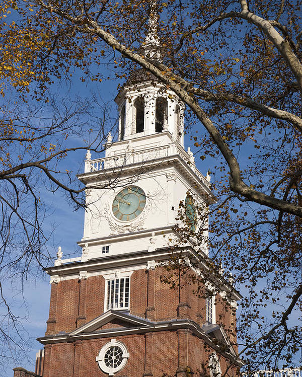 Philadelphia Poster featuring the photograph Independence Hall by Jennifer Ancker