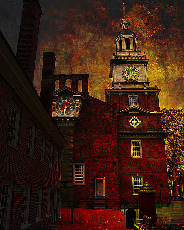 Philadelphia Poster featuring the photograph Independence Hall Philadelphia Let Freedom Ring by Jeff Burgess
