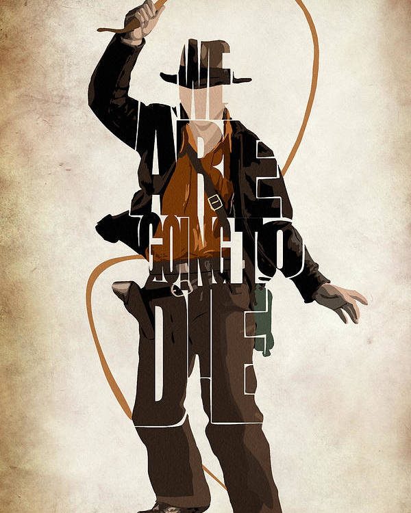 Indiana Jones Poster featuring the drawing Indiana Jones Vol 2 - Harrison Ford by Ayse Deniz
