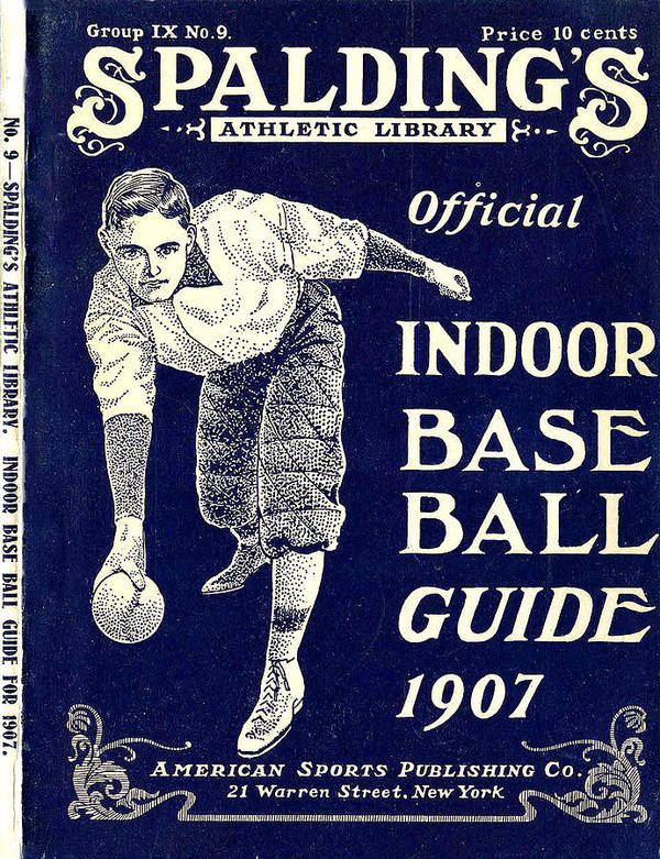 American Sports Publishing Poster featuring the digital art Indoor Base Ball Guide 1907 by American Sports Publishing
