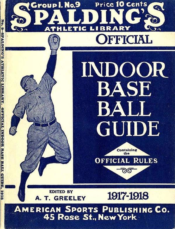 American Sports Publishing Poster featuring the digital art Indoor Base Ball Guide 1907 II by American Sports Publishing
