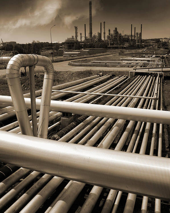 Fuel Poster featuring the photograph Industry Oil Gas And Fuel by Christian Lagereek