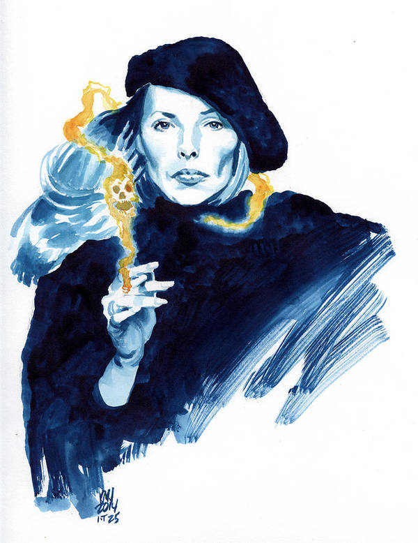 Joni Mitchell Poster featuring the painting inktober 25 Joni's folly by Ken Meyer