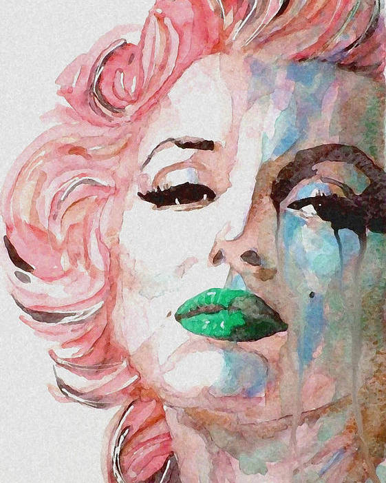 Marilyn Monroe Poster featuring the painting Insecure Flawed But Beautiful by Paul Lovering