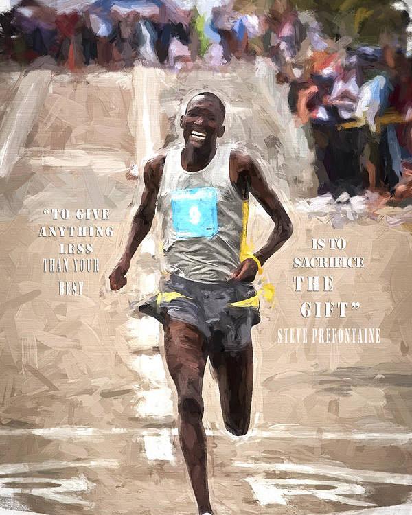 Sich Give Anything 2 Steve Prefontaine Inspirierend Zitat Poster Druck Bild