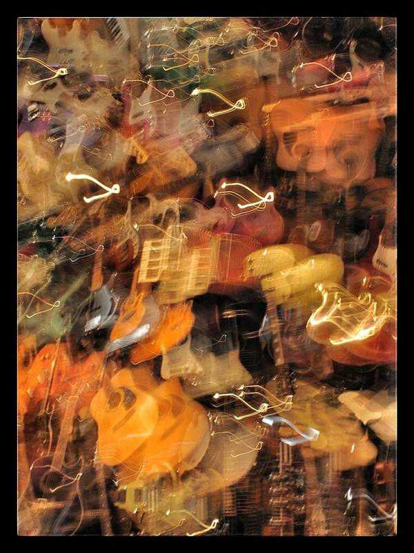 Musical Instruments Poster featuring the photograph Instrument Abstract by Edward Hamm