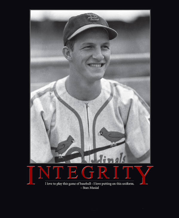 Giant Inspiration Poster featuring the photograph Integrity Stan Musial by Retro Images Archive