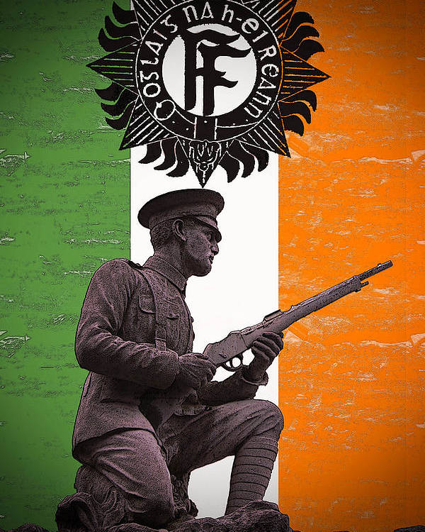 1916 Volunteer Poster featuring the photograph Irish 1916 Volunteer by David Doyle