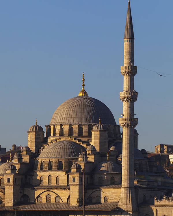 Day Poster featuring the photograph Islamic Mosque Istanbul, Turkey by Mark Thomas