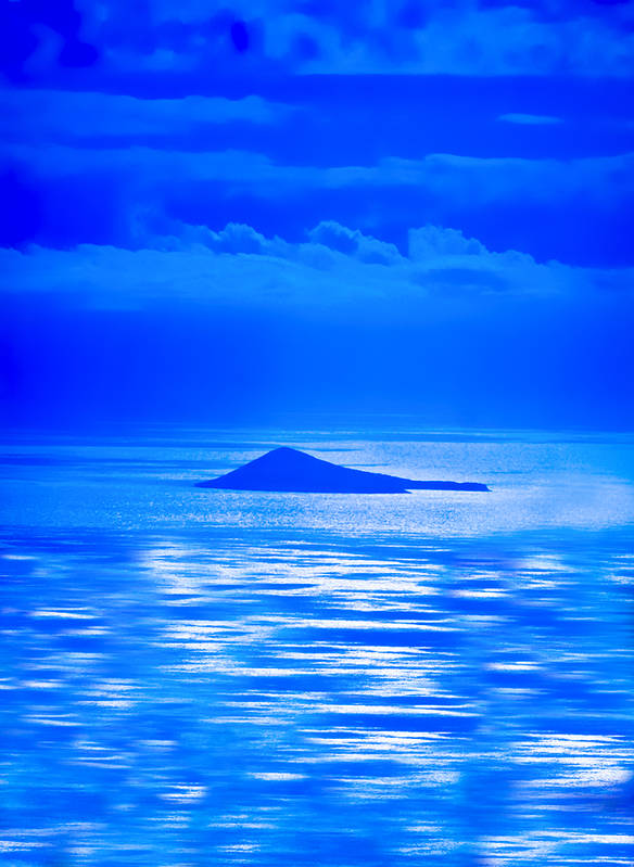 Blue Hawaii Poster featuring the photograph Island Of Yesterday Wide Crop by Christi Kraft