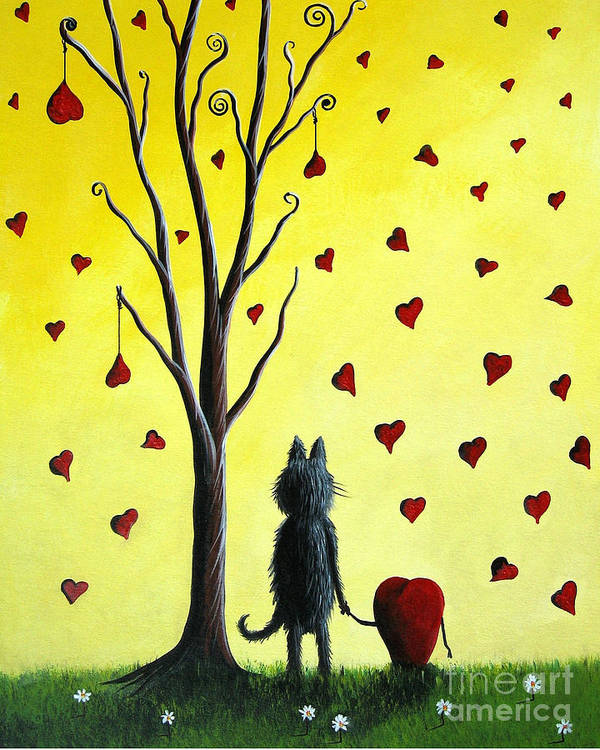 Cat Poster featuring the painting It Must Be Love By Shawna Erback by Shawna Erback