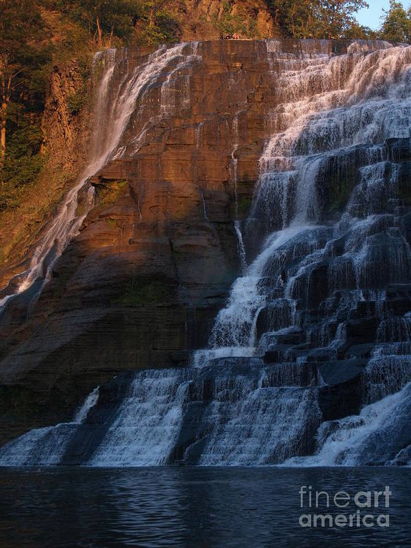 Ithaca Falls Poster featuring the photograph Ithaca Falls In Autumn by Anna Lisa Yoder