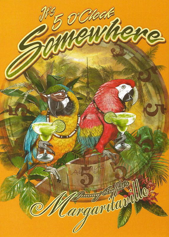 Jimmy Buffett Poster featuring the photograph It's 5 O'clock Somewhere by Desiderata Gallery