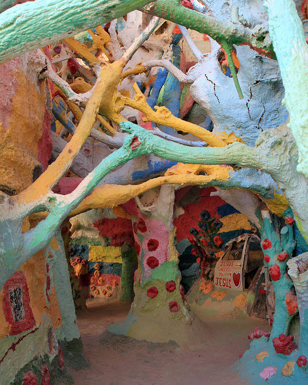 Salvation Mountain Poster featuring the photograph It's A Magical World by Laurie Search