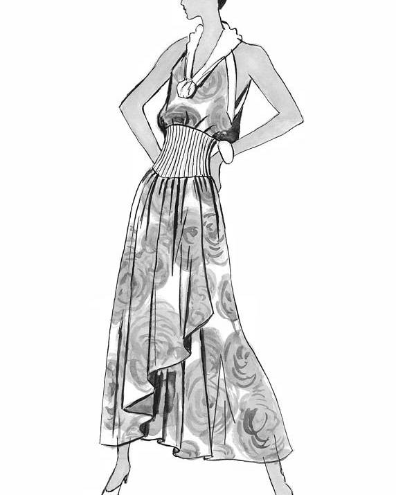 Fashion Illustration Poster featuring the drawing It's Sarong It's Right by Sarah Parks